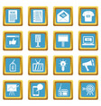 advertisement icons azure vector image vector image