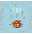 Autumn invitation card vector image vector image