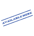 Available Here Watermark Stamp vector image