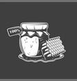 bank honey and honeycomb vector image vector image
