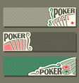banners for poker game vector image vector image
