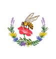 bee logo or honey label vector image vector image