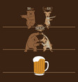 beer fusion bear and deer vector image