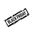 black friday grunge rubber stamp on white vector image