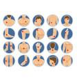 body pain icon human anatomy parts shoulders legs vector image