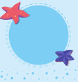 Border design with starfish vector image vector image