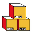 boxes carton isolated icon vector image vector image