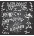 Cafe chalkboard hand-lettering vector image vector image