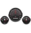 car dashboard black gauges set fuel gauge vector image vector image