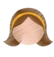 cartoon woman icon vector image vector image