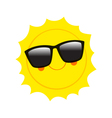 Character Sun in sunglasses and happy smile vector image vector image