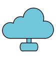 cloud computing server icon vector image vector image