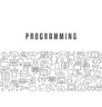 coding and programming background coding and vector image vector image