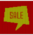 Colorful Knitted Sale Bubble vector image vector image