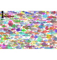 Colourful fish background vector image