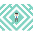 confused businessman in labyrinth flat design vector image vector image