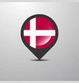 denmark map pin vector image