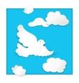 dove flying in sky vector image vector image