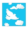 dove flying in the sky vector image vector image