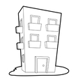 Dwelling house icon outline style vector image vector image