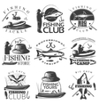 Fishing Emblem Set vector image vector image
