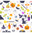 flat style halloween pattern vector image vector image