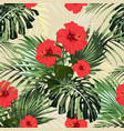 floral fashion tropic wallpaper vector image vector image