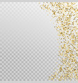 glitter gold border template banner vector image