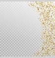 glitter gold border template banner vector image