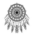 hand drawn bohemian dreamcatcher vector image vector image