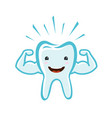 happy healthy tooth dental clinic dentistry vector image