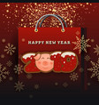 happy new year 2019 celebration greeting card vector image vector image