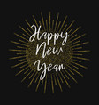 happy new year gold glitter background vector image