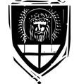 heraldic shield christ vector image vector image