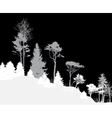 Image of Nature Tree Silhouette Eco banner vector image vector image