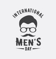 international men day or father day emblem on vector image vector image