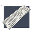 keyboard with characters vector image vector image