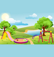 kids playground set vector image vector image