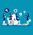 maintenance business people for product vector image