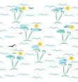 marine pattern vector image vector image