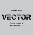 minimal font design for typographyon on grey vector image vector image