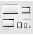 Modern digital devices icons vector image