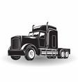 Monochrome truck icon