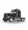 monochrome truck icon vector image vector image