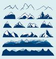 mountains set vector image