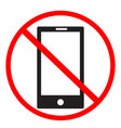 no cell phone sign on white background no mobile vector image vector image