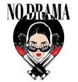 no drama hand drawn girl vector image vector image