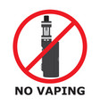 no vaping sign flat style prohibition sign no vector image vector image