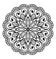oriental simple mandala vector image vector image