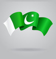 Pakistani waving Flag vector image